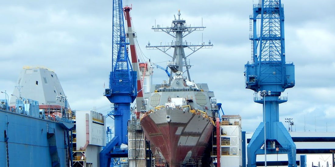 Bath Iron Works shipyard