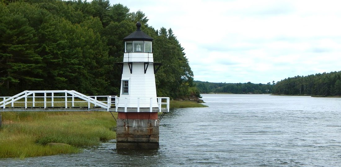 Doubling Point Light on the Kennebec River in Maine