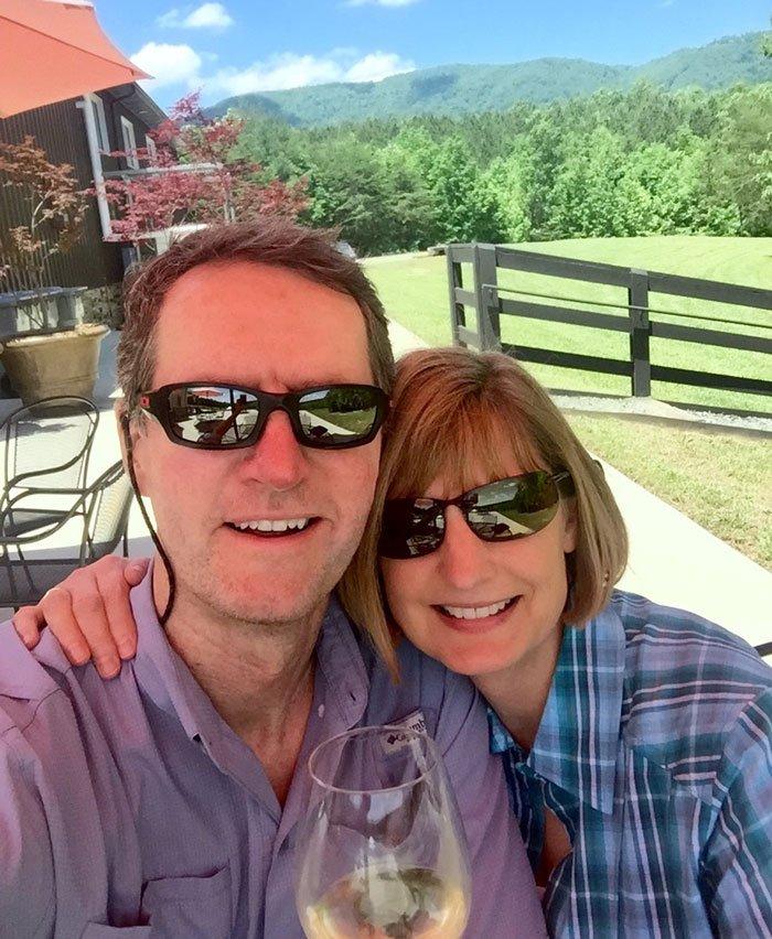 Jim Tobalski at a favorite NC winery