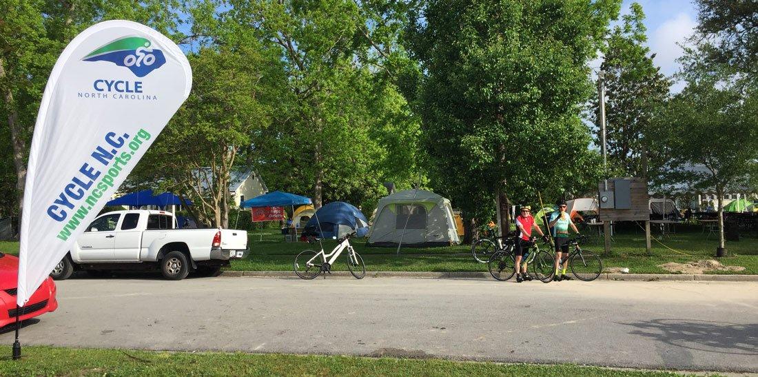 CNC campsite on Oriental waterfront