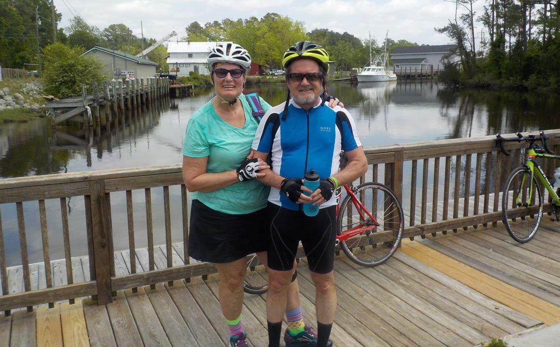 Libby and Martin on Cycle North Carolina Coastal Ride