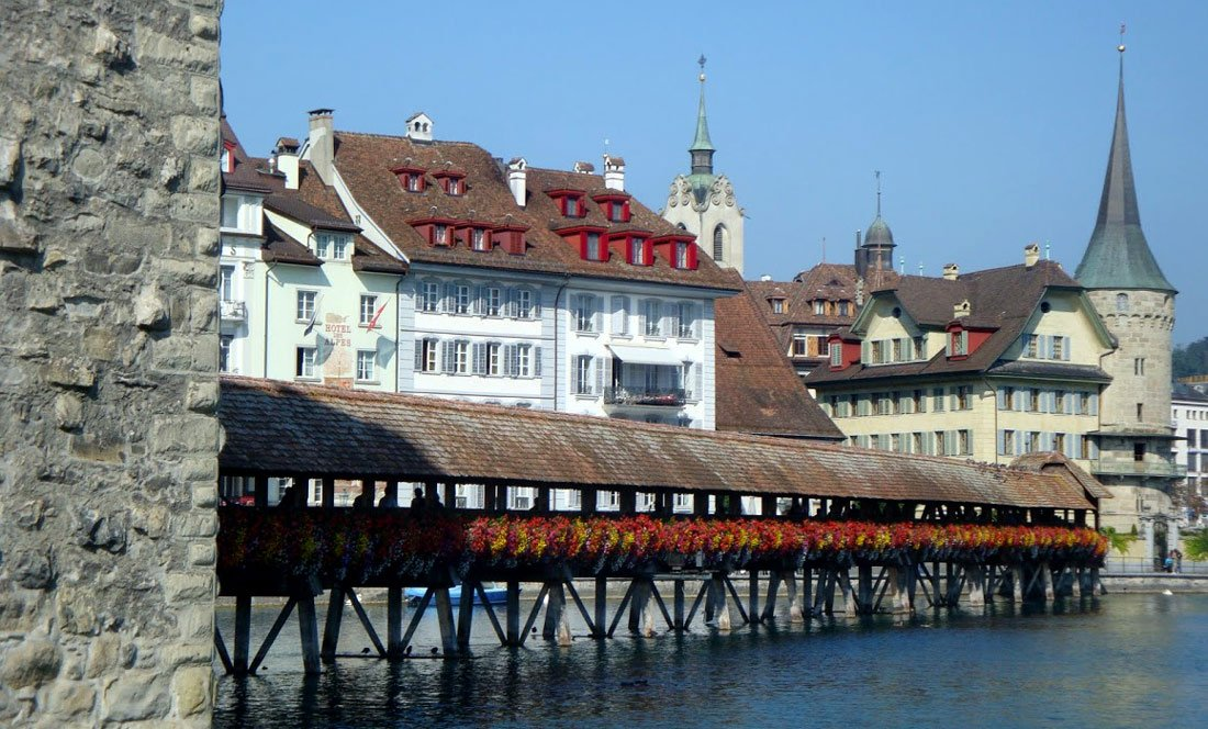 Lucerne Switzerland Chapel Bridge