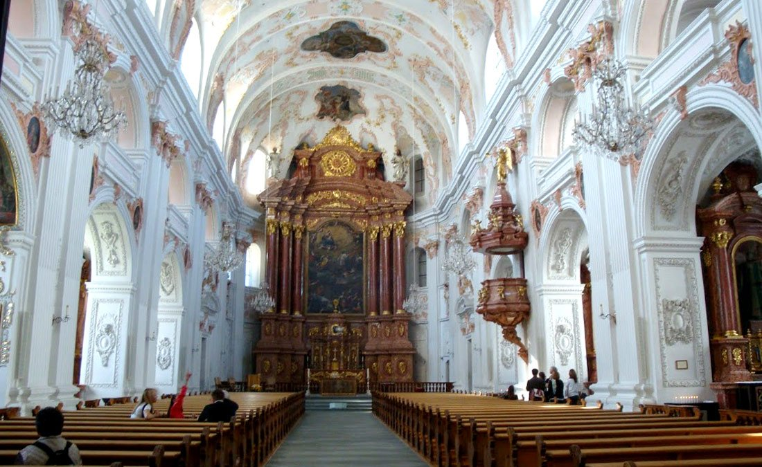 Lucerne, Switzerland, Europe. Jesuit Church inside