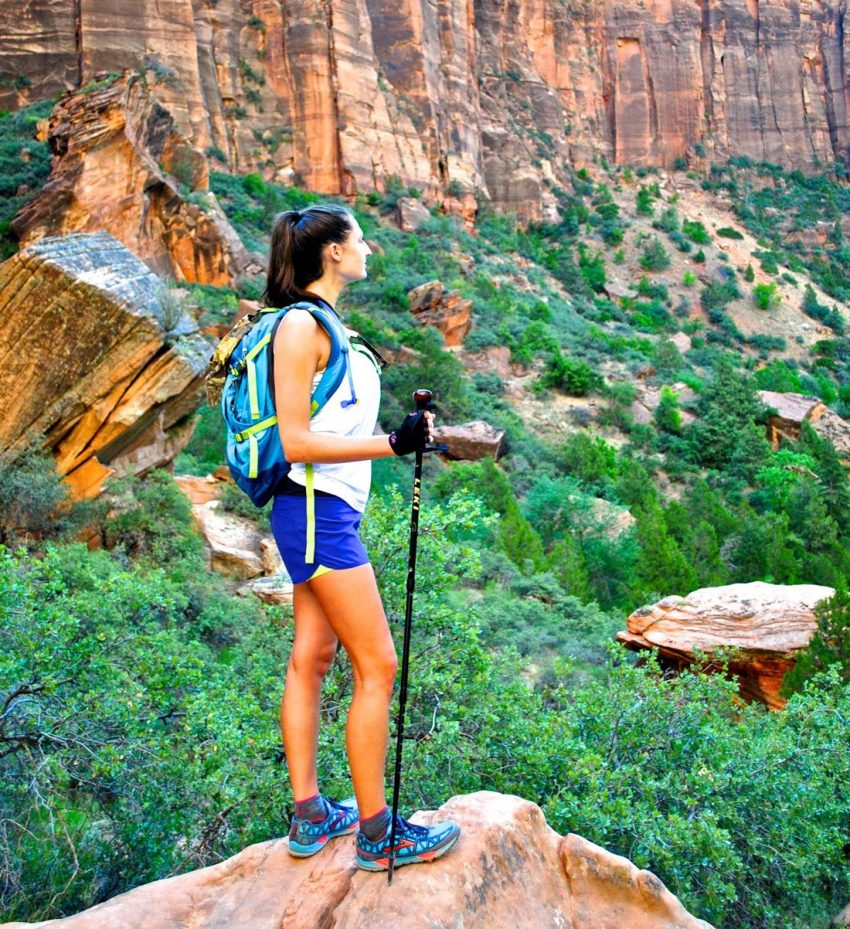 Hiking poles help balance and lessen impact on joints