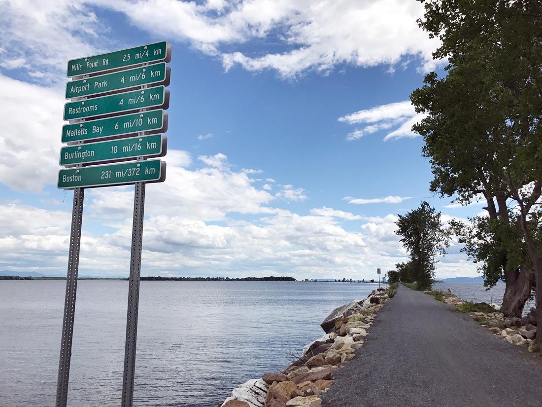 Active bike Vermont Island Line causeway