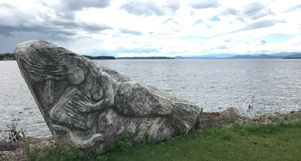 Biking Vermont: Mermaid rock on Island Line Trail