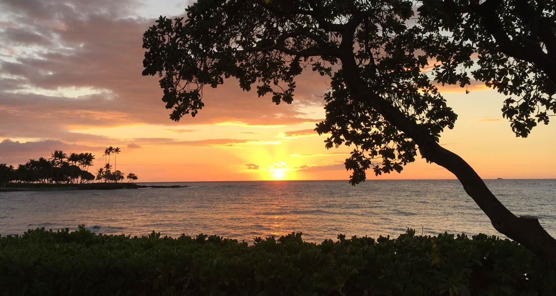 Hawaii sunset at Fairmont Orchid