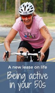 How to maintain an active lifestyle in your 50s – a triathlon doesn't have to be out of reach! #WanderingRoseTravels