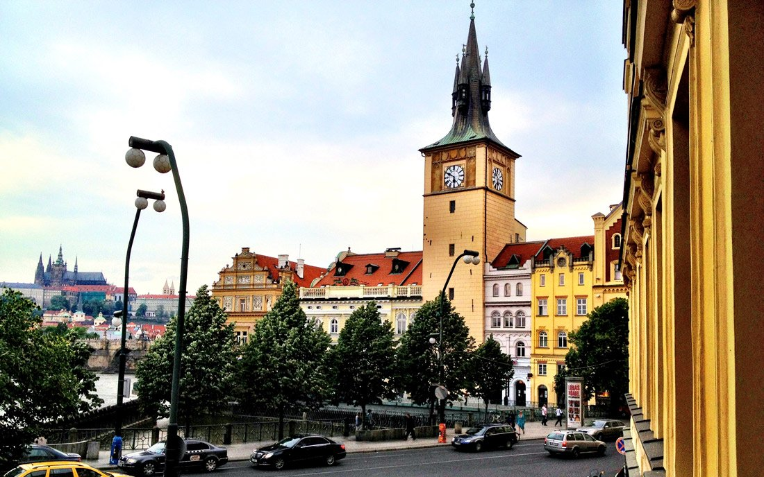 Prague's center at your doorstep from Smetana Hotel