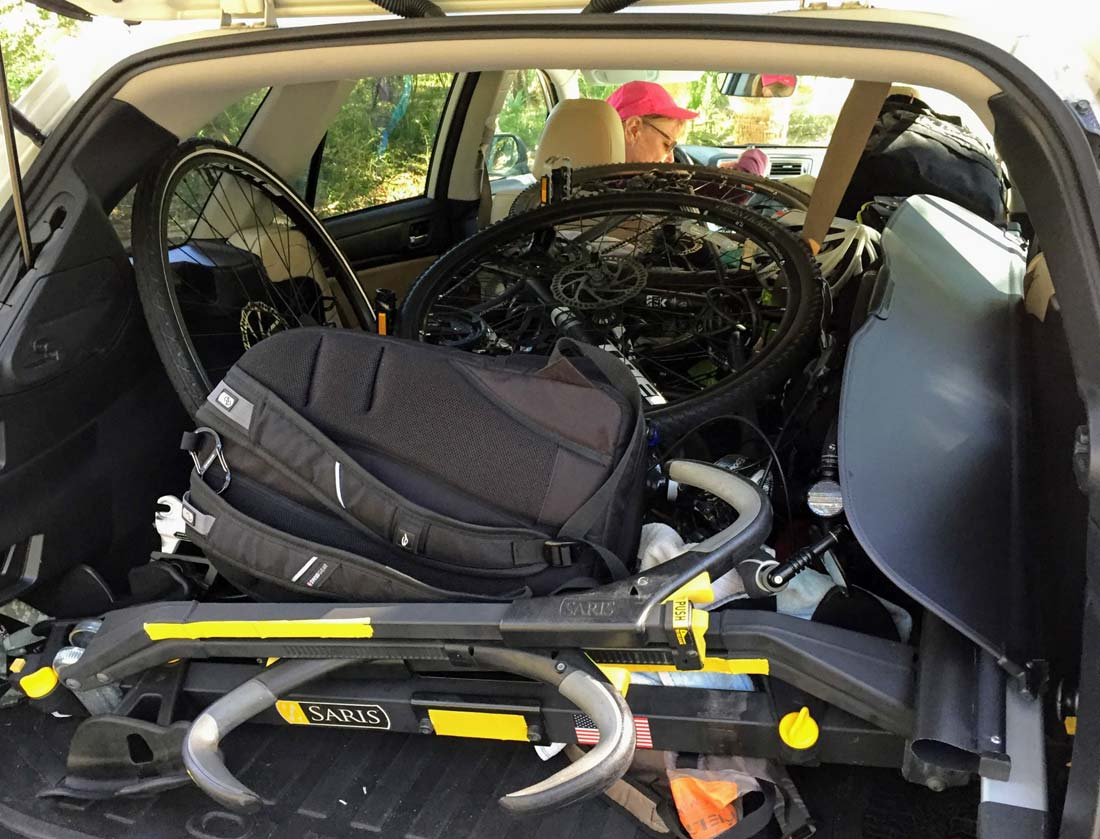Subaru bike trip