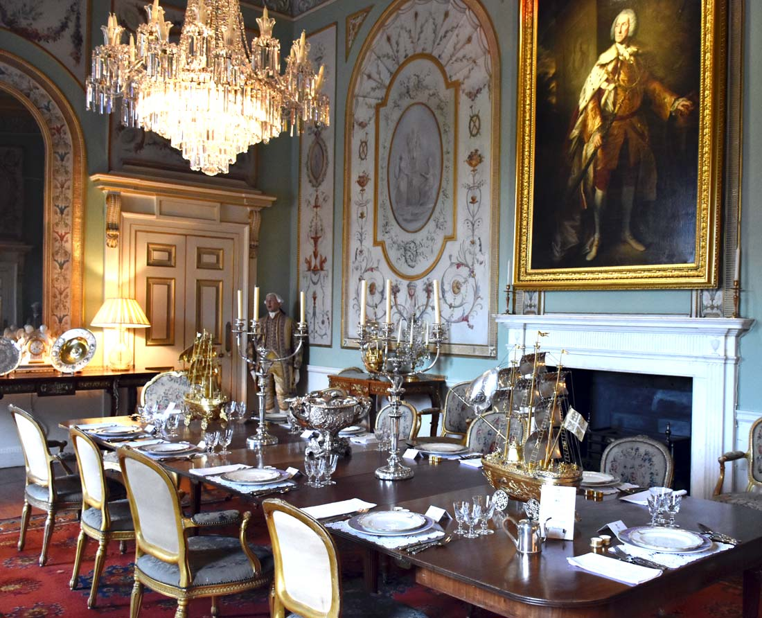 The Inveraray Castle dining room was one our my favorites.