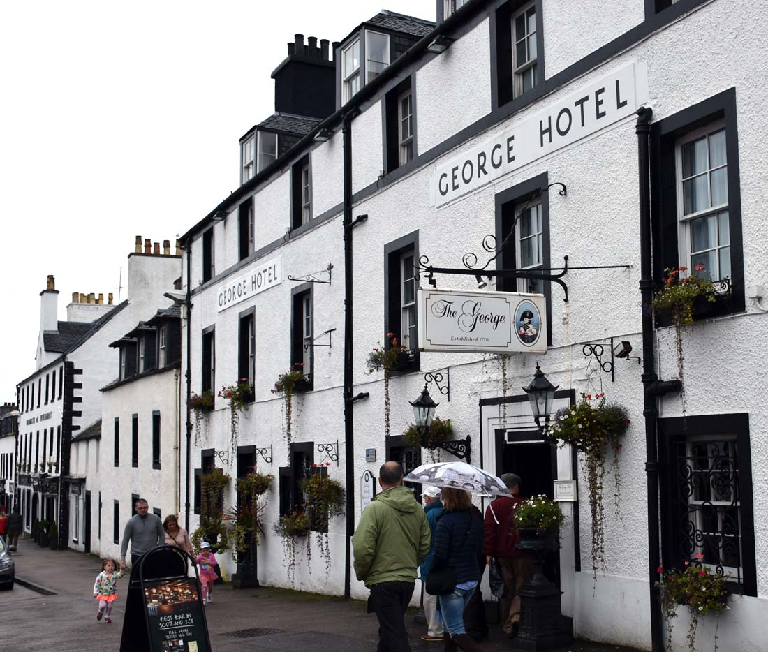 The George Hotel in Inveraray, Scotland.