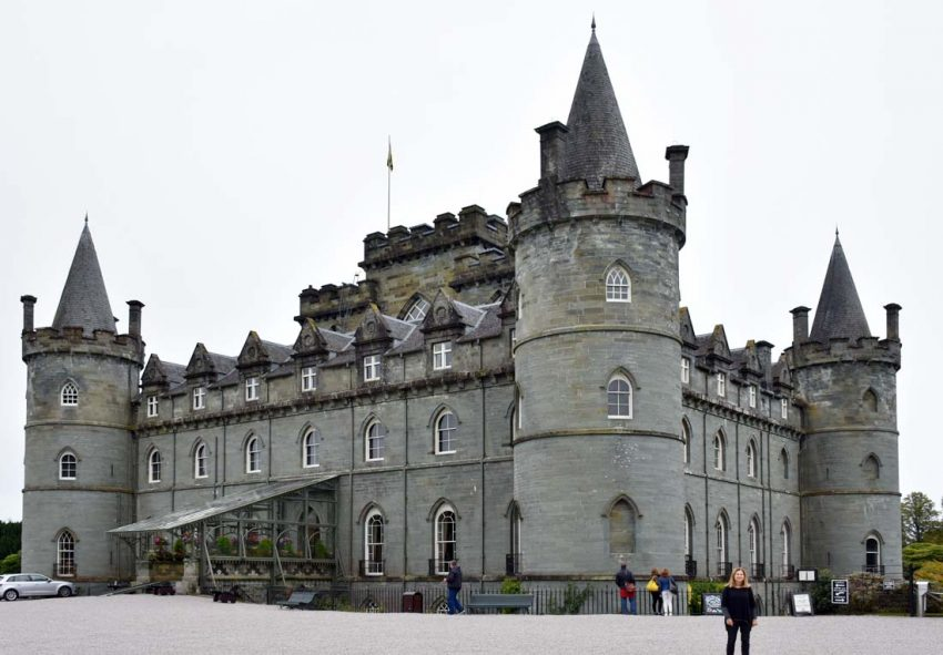 Inveraray Castle was used in a two-hour episode of Downton Abbey
