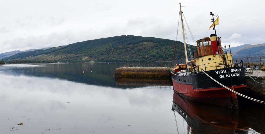 Inveraray sits on the banks of Loch Fyne in the Scottish Highlands.