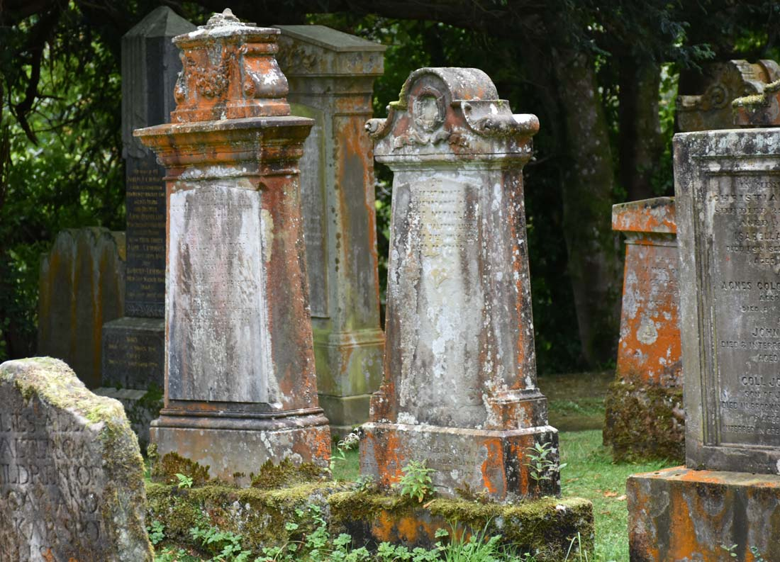 The cemetery at Luss Parish Church includes grave markers back as far as the 11th century.