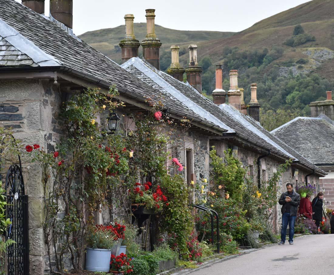 The beautiful village of Luss, Scotland.