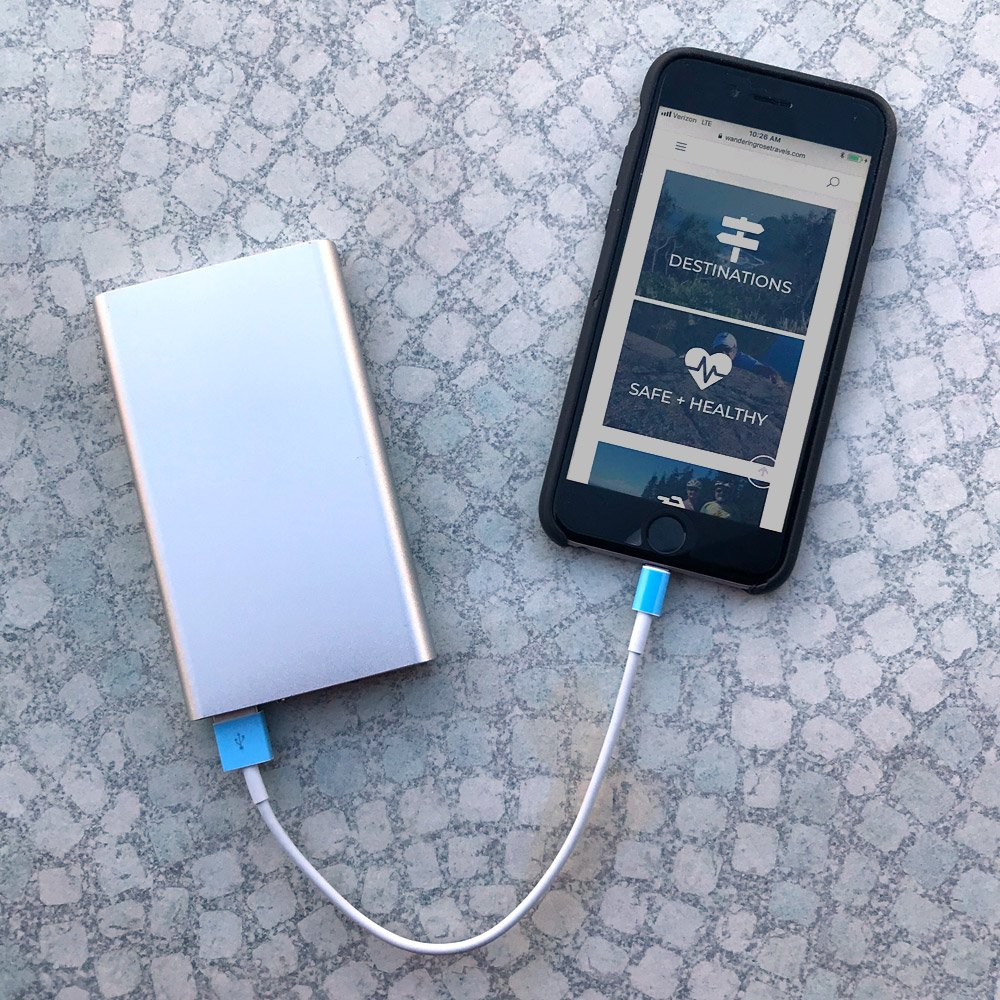 Portable cell phone power bank
