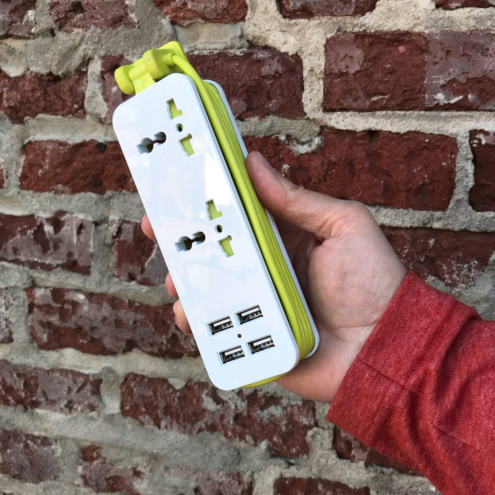 Power strip with USB charging ports