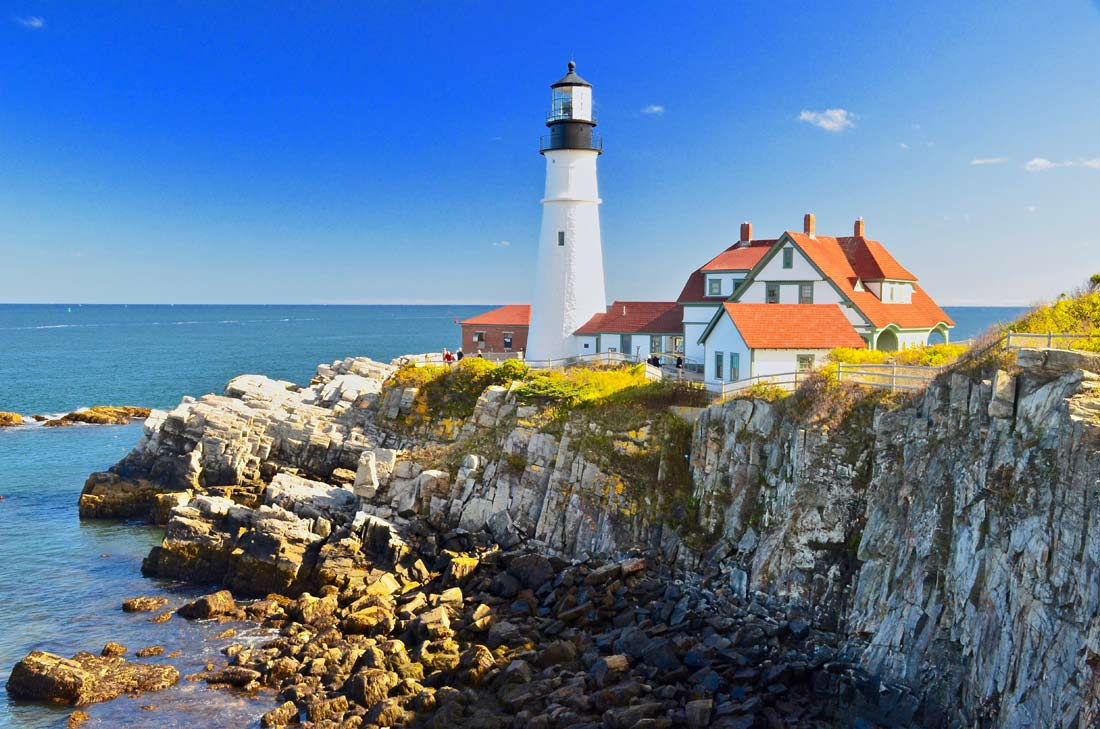 Portland Head Light lighthouse in Maine