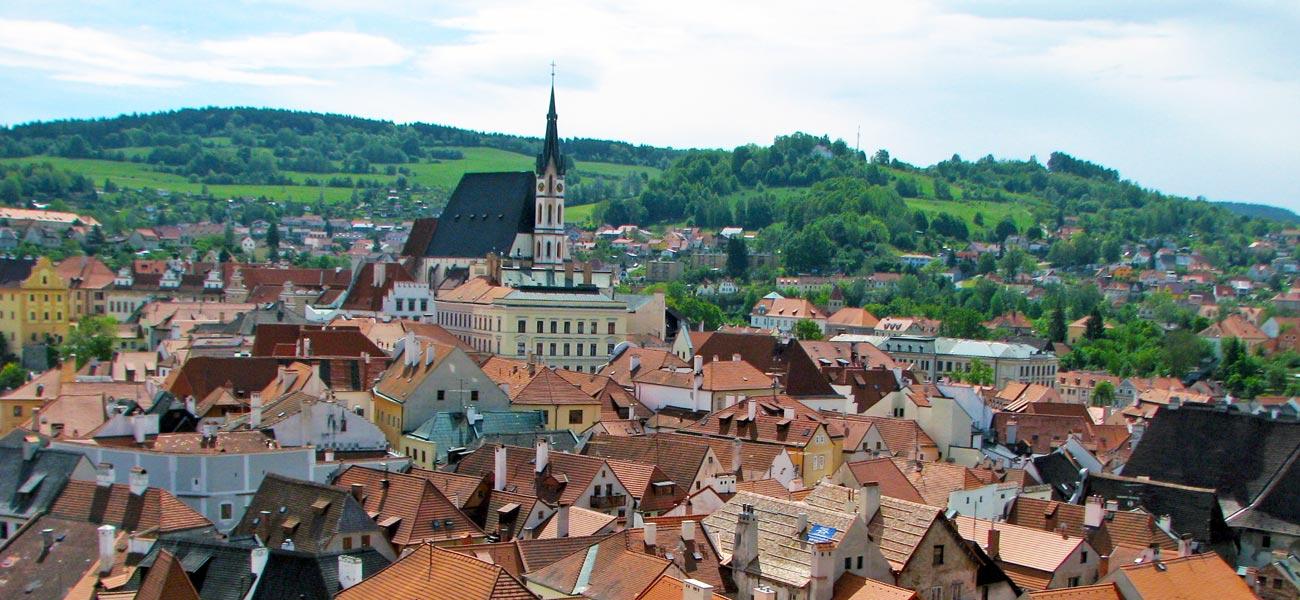 Cesky Krumlov Czech medieval Old Town