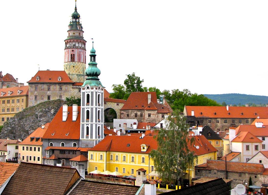 Cesky Krumlov Old Town view