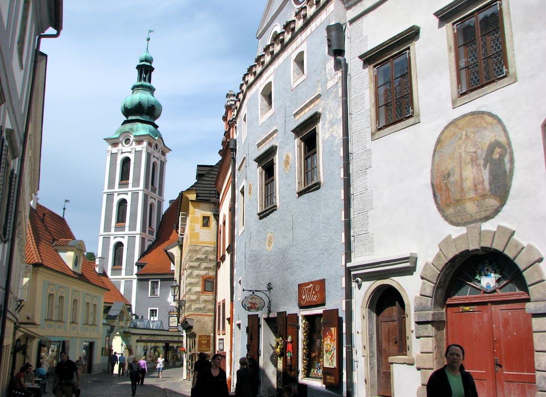 Historical Czech town: Cesky Krumlov