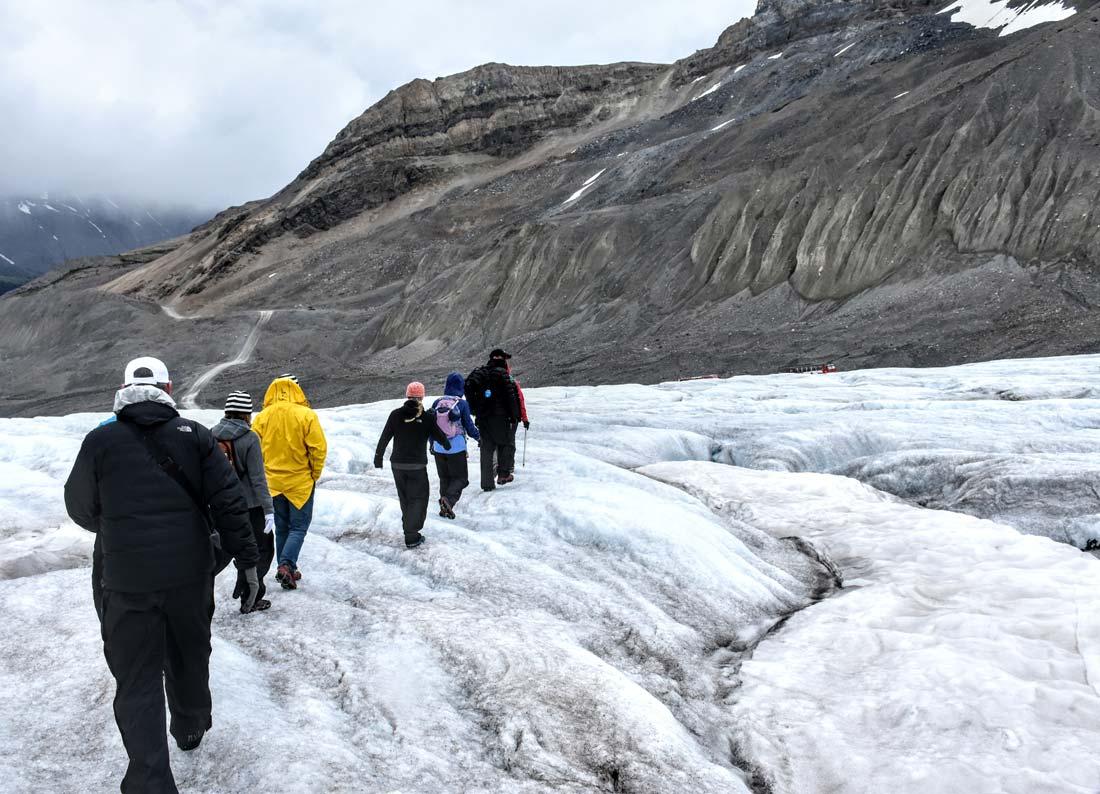 Hiking Athabasca Glacier Canadian Rockies