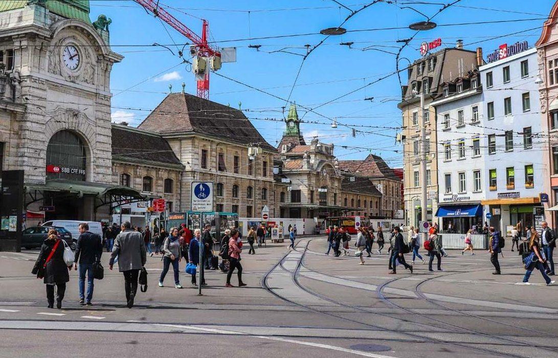 Basel Switzerland train station funny travel stories