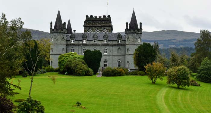 Inveraray Castle first view