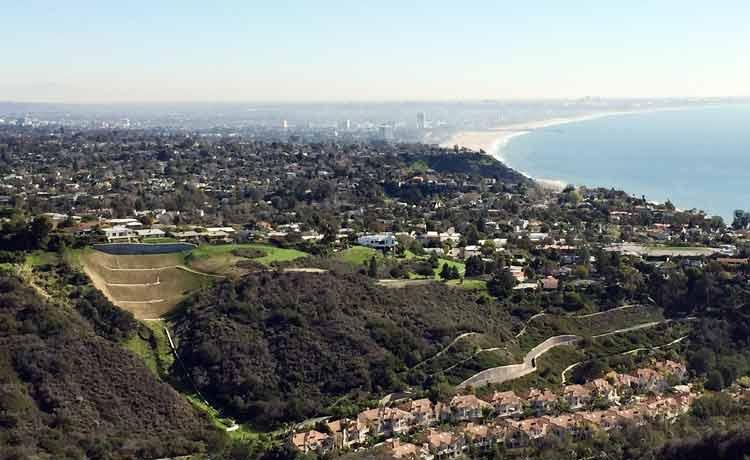 Hike view Santa Monica Pacific Ocean