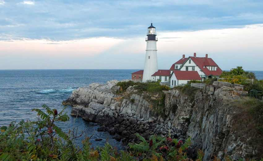 Maine's oldest lighthouse, the Portland Head Light