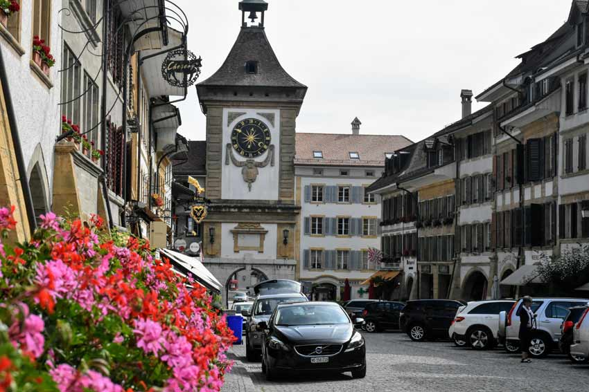 Bern Tower historic Murten Switzerland