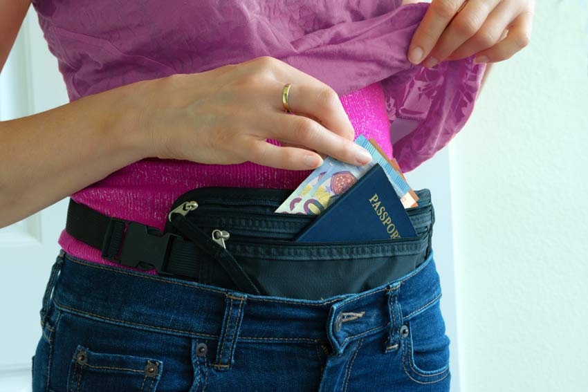 money belt neck wallet travel security
