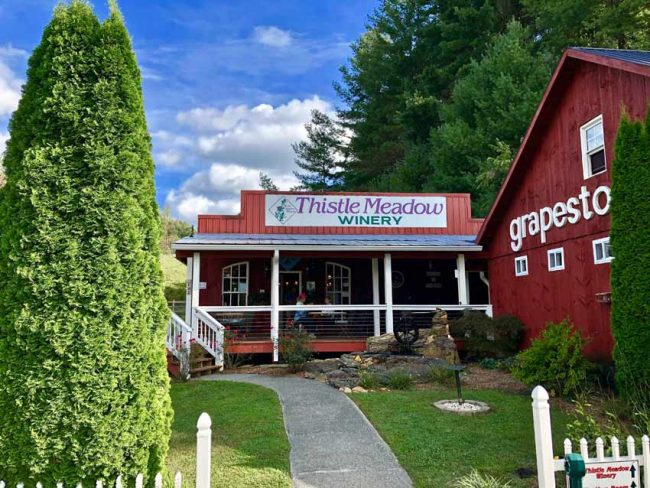 Thistle Meadow Winery is located right off the Blue Ridge Parkway.