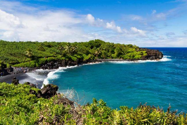 There's more to enjoy than just the black volcanic sand beach at Hawaii's Wai'anapanapa State Park.