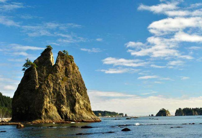 Olympic National Park includes 72 miles of wilderness coastline and beaches.