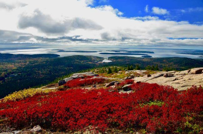 Be sure to hike up in elevation during autumn for views like this on Penobscot Mountain.