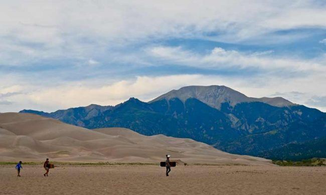 Sand sledding and sand boarding are popular, but there are no chairlifts.