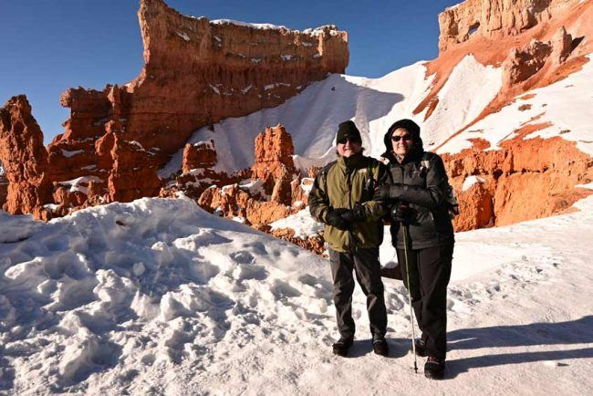 navajo trail queens garden best winter hike snow bryce canyon national park