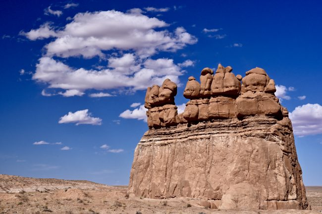 Hoodoos and spires decorate the trail system in Goblin Valley State Park.